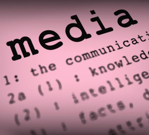 Media Definition Shows Social Media Or Multimedia