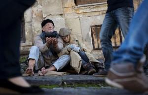 16334593 - homeless abandoned family